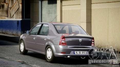 Dacia Logan v1.0 для GTA 4 вид сзади слева