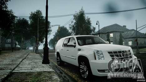 Cadillac Escalade ESV для GTA 4 вид сзади