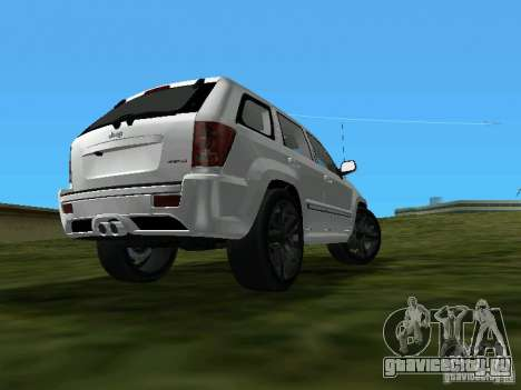 Jeep Grand Cherokee SRT8 TT Black Revel для GTA Vice City вид слева