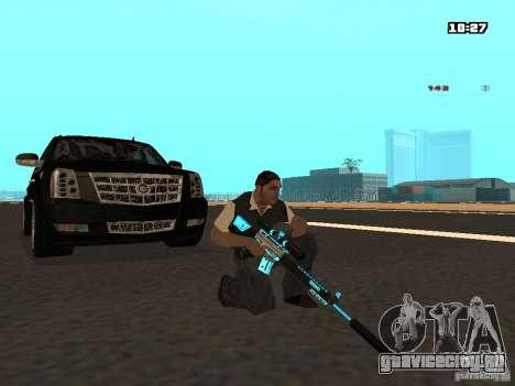Black & Blue guns для GTA San Andreas пятый скриншот