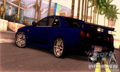 Nissan Skyline R34 GT-R Tunable для GTA San Andreas вид слева