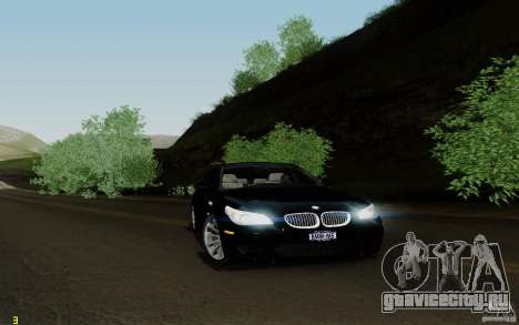 BMW M5 2009 для GTA San Andreas вид сзади слева