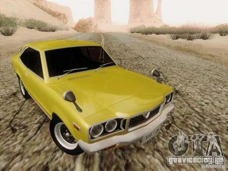 Mazda Savanna RX3 для GTA San Andreas вид изнутри