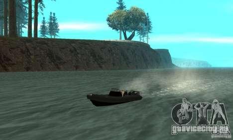 GTAIV Dinghy для GTA San Andreas вид изнутри