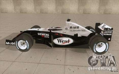 McLaren Mercedes MP 4-19 для GTA San Andreas вид слева