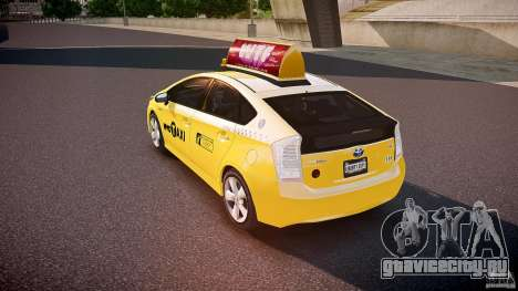 Toyota Prius NYC Taxi 2011 для GTA 4 вид сзади слева