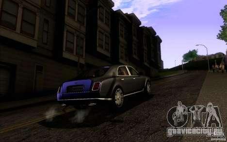 Bentley Mulsanne 2010 v1.0 для GTA San Andreas вид справа