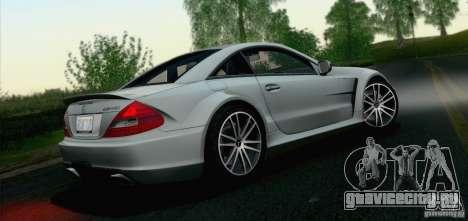 Mercedes-Benz SL65 AMG Black Series для GTA San Andreas вид сзади
