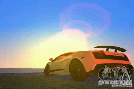 Lamborghini Gallardo LP570 SuperLeggera для GTA Vice City вид сзади слева