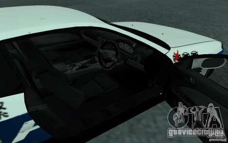 Nissan Silvia S15 Police для GTA San Andreas вид сзади
