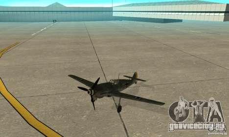 Bf-109 для GTA San Andreas вид слева