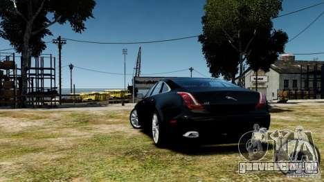 Jaguar XJ 2012 для GTA 4 вид справа