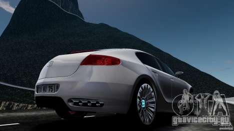 Bugatti Galibier 2009 для GTA 4 вид справа