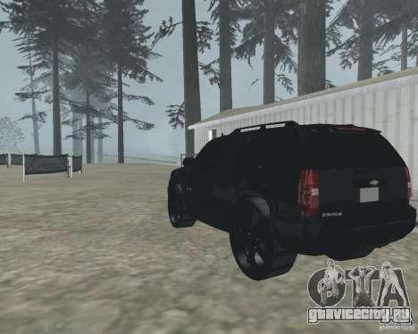 Chevrolet Tahoe BLACK EDITION для GTA San Andreas вид сзади слева