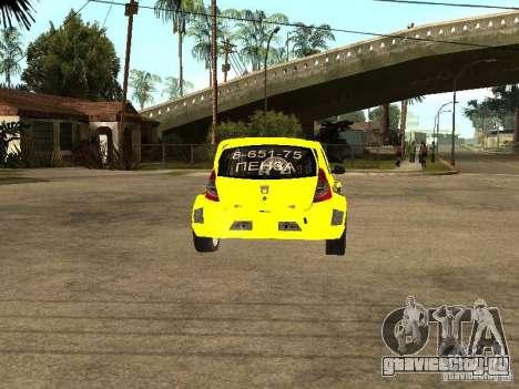 Dacia Sandero Speed Taxi для GTA San Andreas вид сзади слева