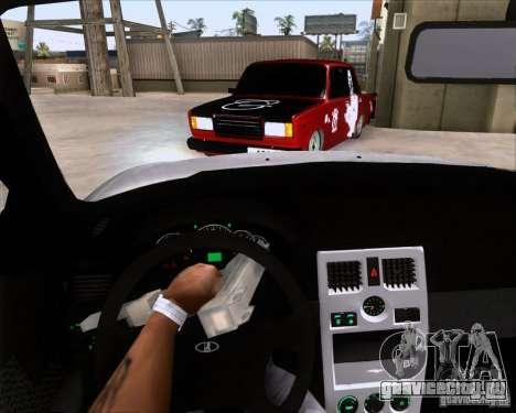 ВАЗ 2107 Gangsta для GTA San Andreas вид сзади слева