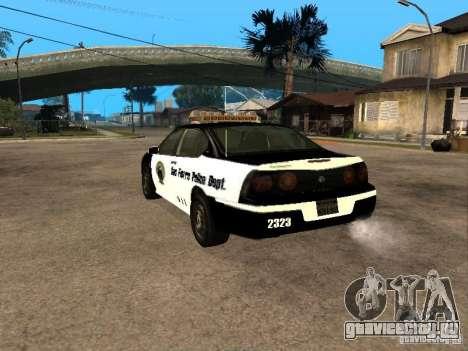 Chevrolet Impala Police 2003 для GTA San Andreas вид слева