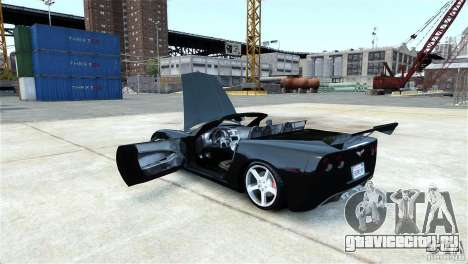 Chevrolet Corvette C6 Convertible v1.0 для GTA 4 вид сзади