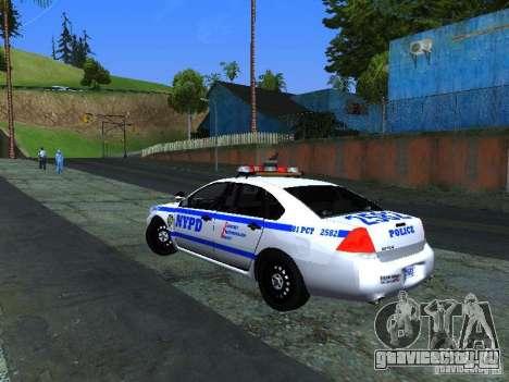 Chevrolet Impala NYPD для GTA San Andreas вид справа