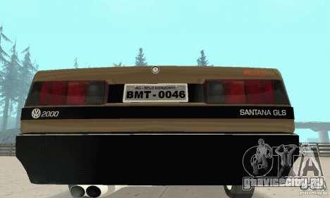 Volkswagen Santana GLS 1989 для GTA San Andreas вид сбоку