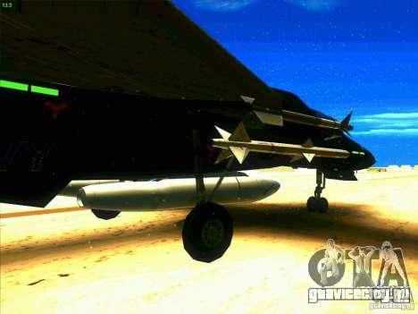 F-14 Tomcat Razgriz для GTA San Andreas вид сзади