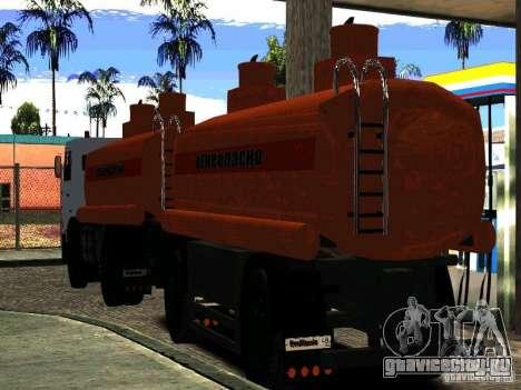 Прицеп к МАЗ  533702 Бензовоз для GTA San Andreas вид сзади слева