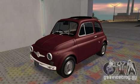 Fiat Abarth 595 SS 1968 для GTA San Andreas вид изнутри