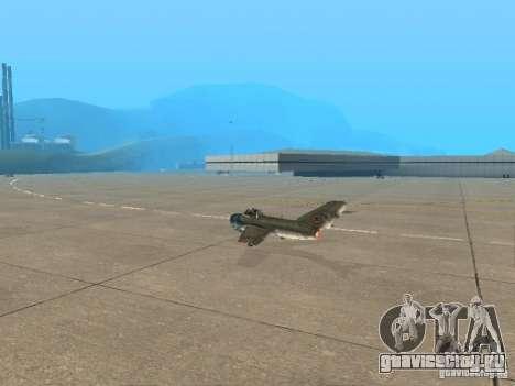 Миг 15 С рабочим вооружением для GTA San Andreas вид слева