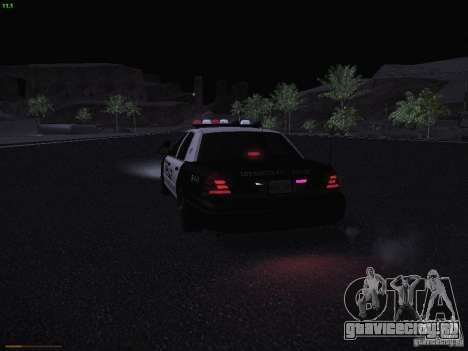 Ford Crown Victoria Police 2003 для GTA San Andreas вид сверху