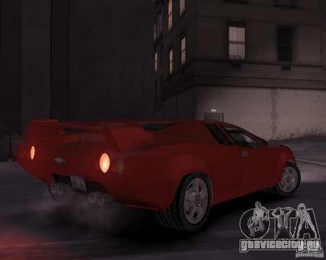 Infernus - Vice City для GTA 4 вид справа