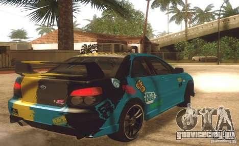 Subaru Impreza WRX STI Futou Battle для GTA San Andreas