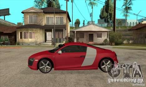 Audi R8 V10 для GTA San Andreas вид слева