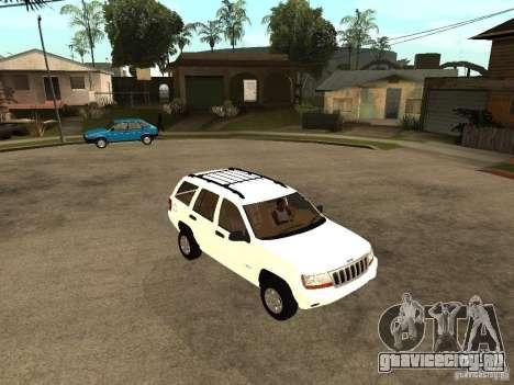 Jeep Grand Cherokee 99 для GTA San Andreas вид справа