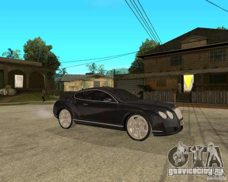 Bentley Continental GT для GTA San Andreas вид справа