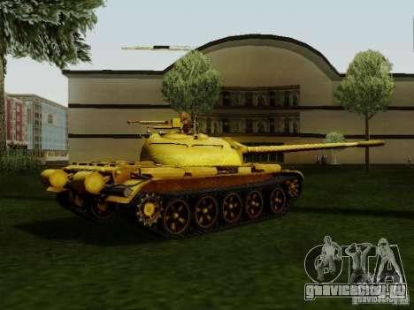 Type 59 GOLD Skin для GTA San Andreas вид слева