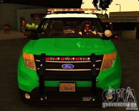 Ford Explorer 2011 VCPD Police для GTA San Andreas вид справа