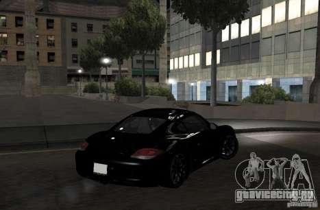 Porsche Cayman R для GTA San Andreas вид сзади