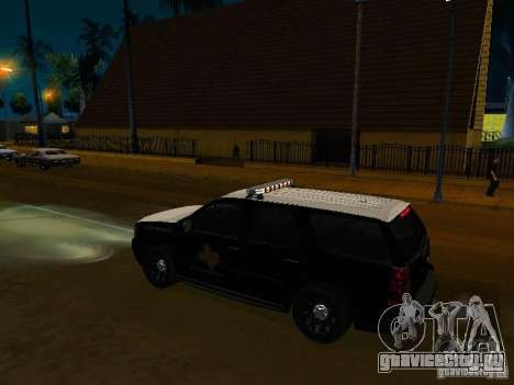Chevrolet Tahoe Texas Highway Patrol для GTA San Andreas вид справа