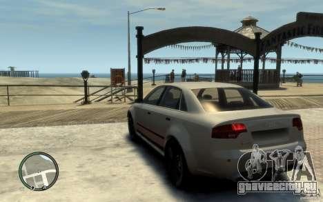 Audi RS4 для GTA 4 вид сзади слева