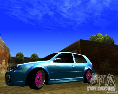 Volkswagen Golf R32 Euro look для GTA San Andreas вид слева