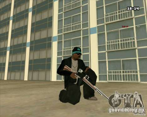 Chrome Weapon Pack для GTA San Andreas