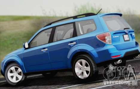 Subaru Forester XT 2008 для GTA San Andreas вид сзади