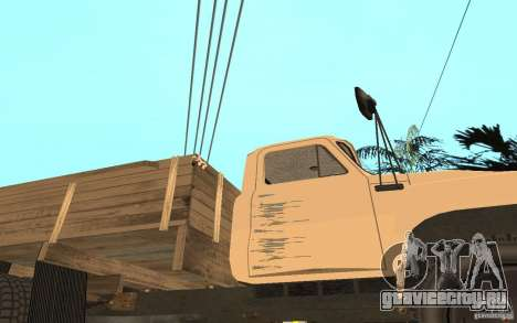 ГАЗ-52 для GTA San Andreas вид снизу