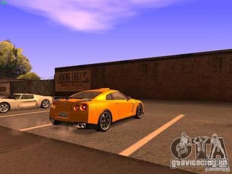 Nissan GT-R SpecV Black Revel для GTA San Andreas вид сзади слева