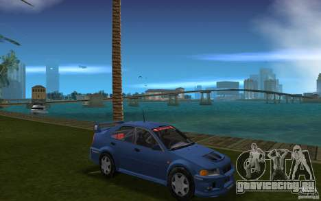 Mitsubishi Lancer Evo VI для GTA Vice City вид сзади
