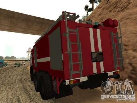 КамАЗ 53229 Пожарный для GTA San Andreas вид слева