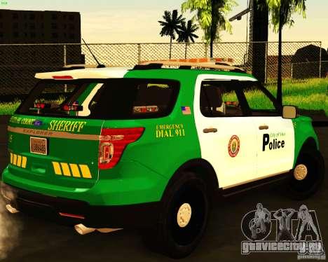 Ford Explorer 2011 VCPD Police для GTA San Andreas вид слева