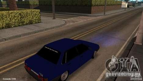 BАЗ 21099 для GTA San Andreas вид сзади слева