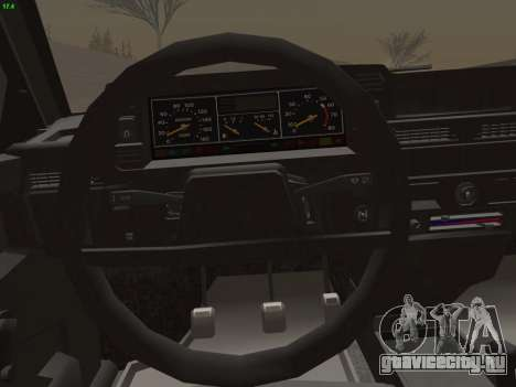 ВАЗ 21083i для GTA San Andreas двигатель
