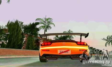 Mazda RX7 RE-Amemiya для GTA Vice City вид сверху